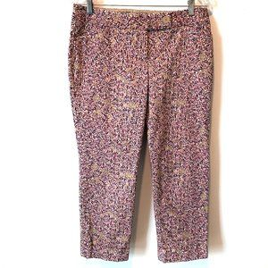 The Limited Drew Fit Floral Cuffed Capris